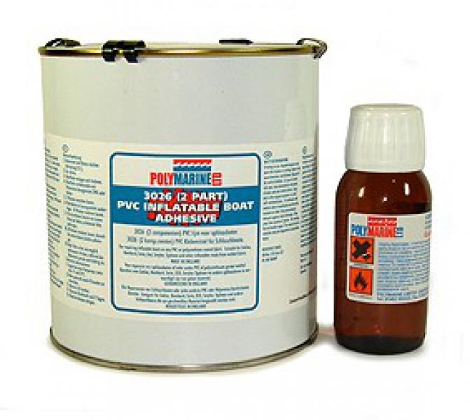 PVC Adhesive, 2 Part, 1 Litre Tin